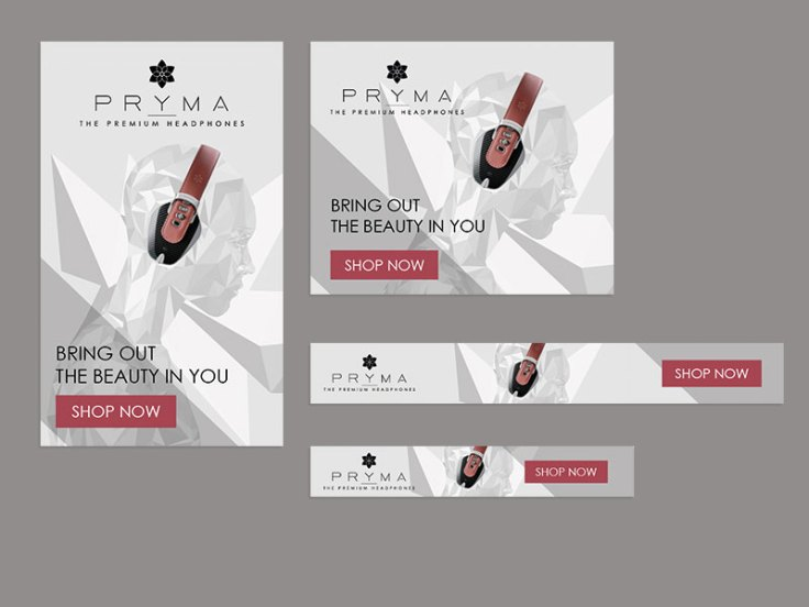 Set di banner Display per PRYMA (tot. 16 formati)